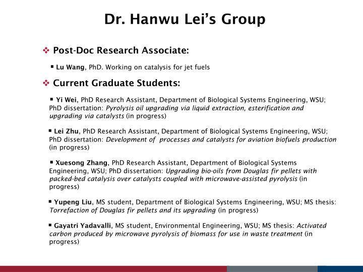 Dr hanwu lei s group