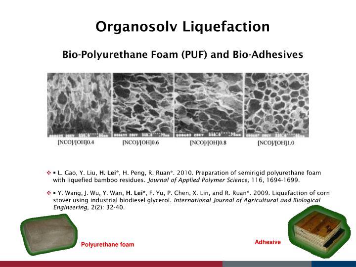 Organosolv Liquefaction