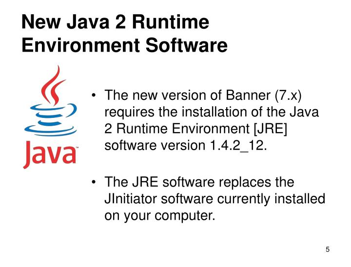 New Java 2 Runtime Environment Software
