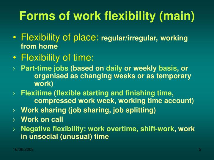 Forms of work flexibility (main)