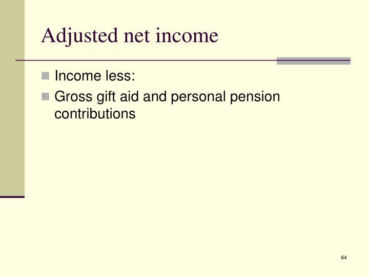 Adjusted net income