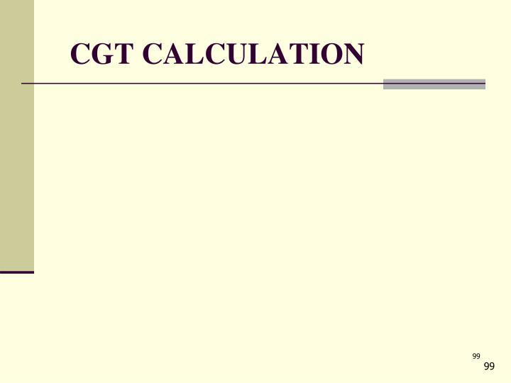 CGT CALCULATION