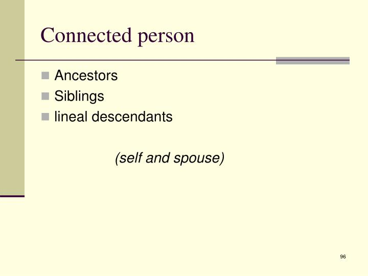 Connected person