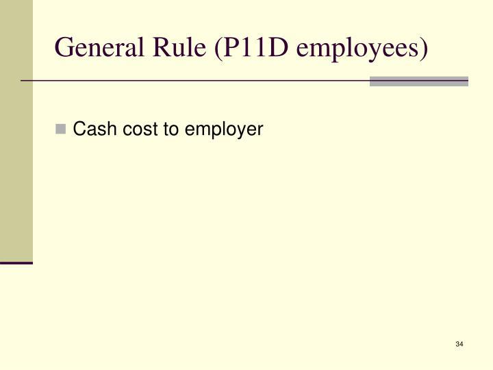 General Rule (P11D employees)