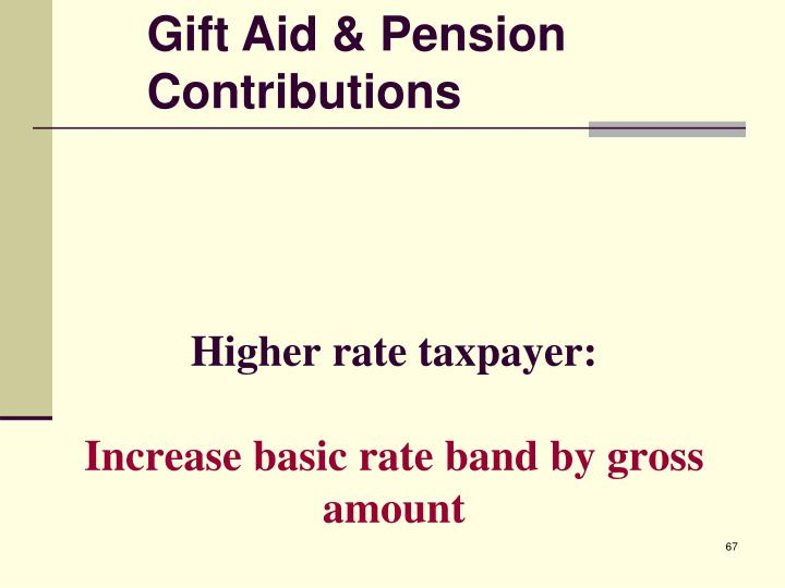 Higher rate taxpayer: