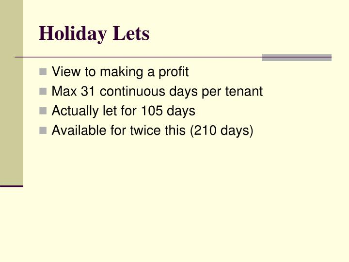 Holiday Lets