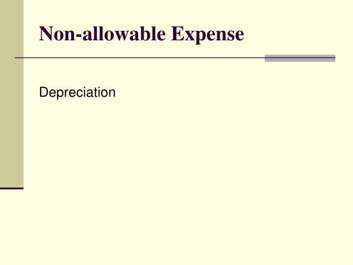 Non-allowable Expense