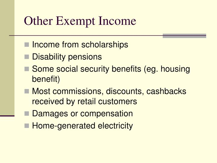 Other Exempt Income