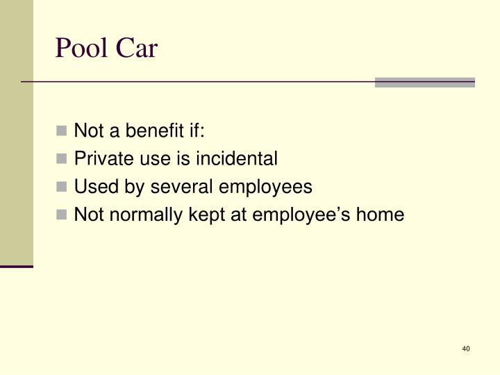 Pool Car