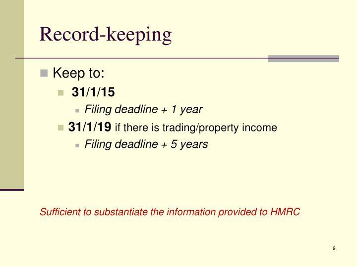 Record-keeping