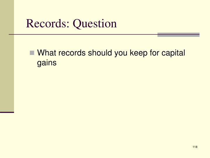 Records: Question