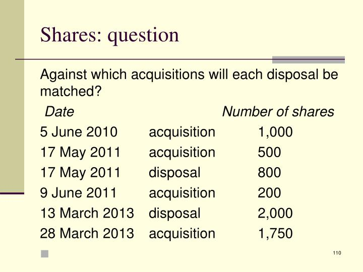 Shares: question