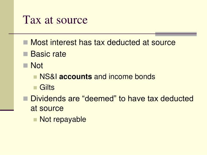 Tax at source