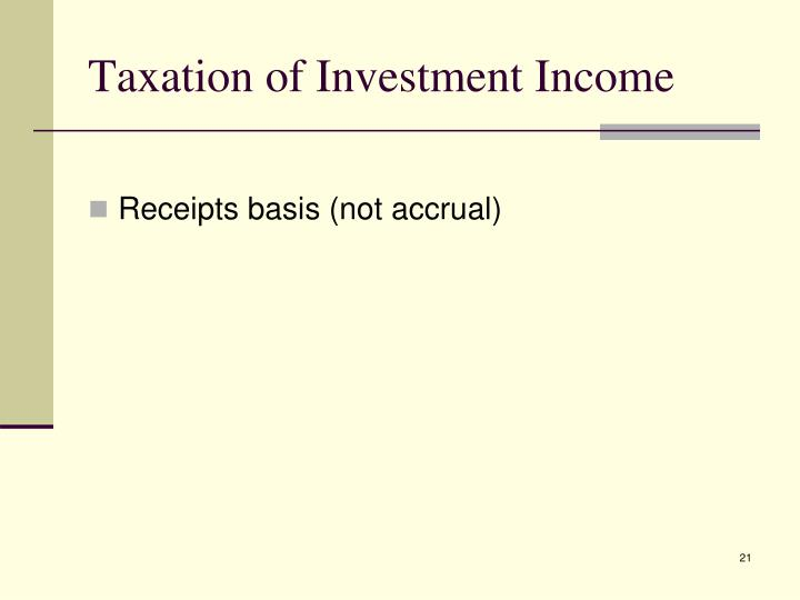 Taxation of Investment Income