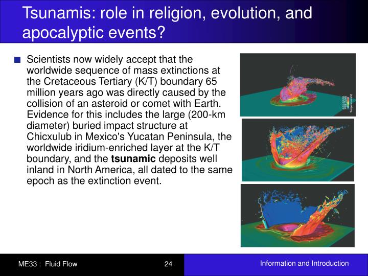 Tsunamis: role in religion, evolution, and apocalyptic events?