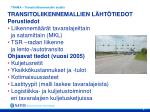 trama transitoliikennemallin sis lt
