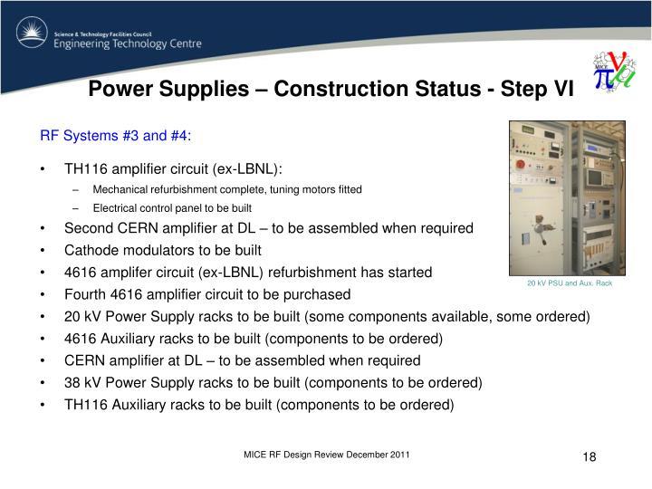 Power Supplies – Construction Status - Step VI