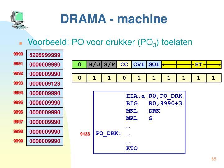 DRAMA - machine