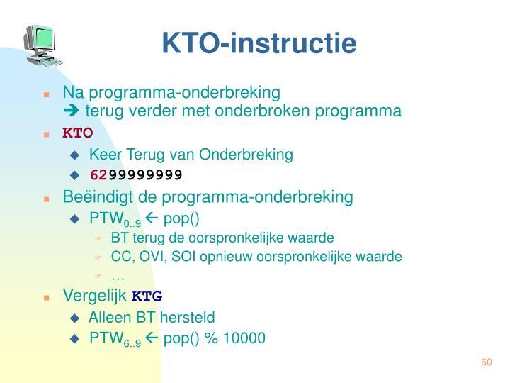 KTO-instructie