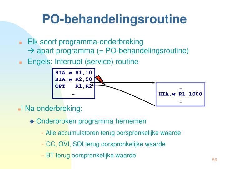 PO-behandelingsroutine
