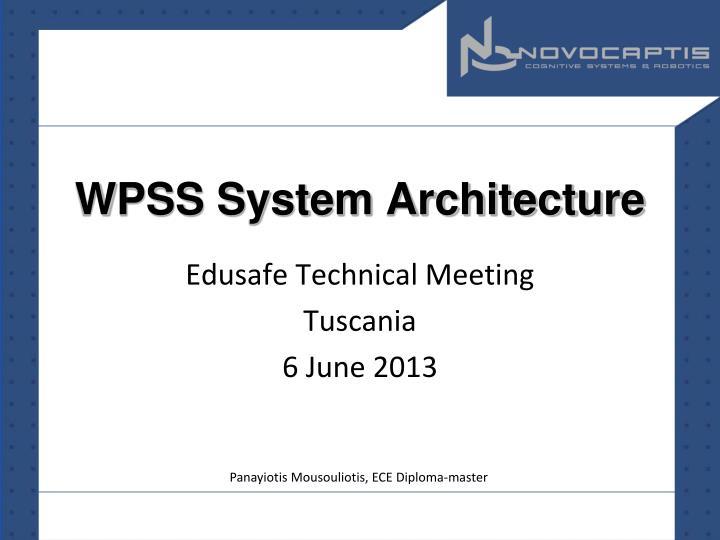 wpss system architecture n.