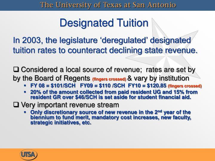 Designated Tuition