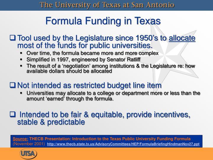 Formula Funding in Texas