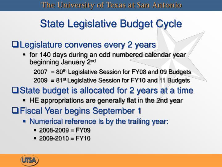 State Legislative Budget Cycle