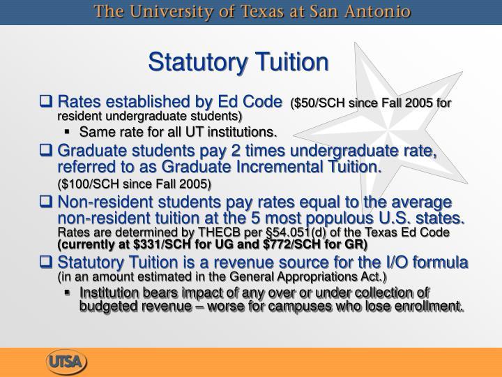 Statutory Tuition