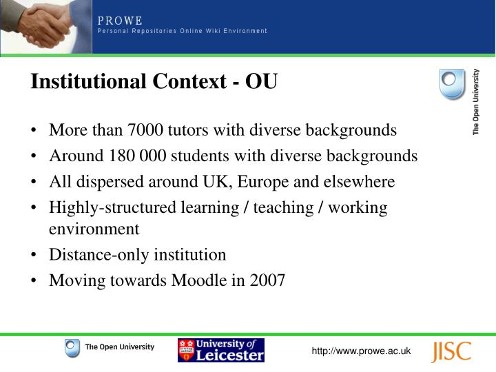 Institutional Context - OU