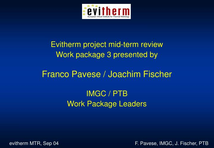 Evitherm project mid-term review
