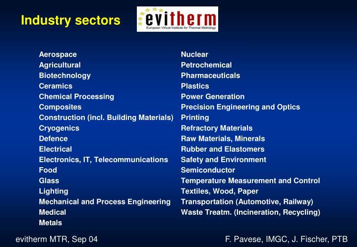 Industry sectors