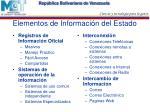 elementos de informaci n del estado