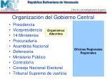 organizaci n del gobierno central
