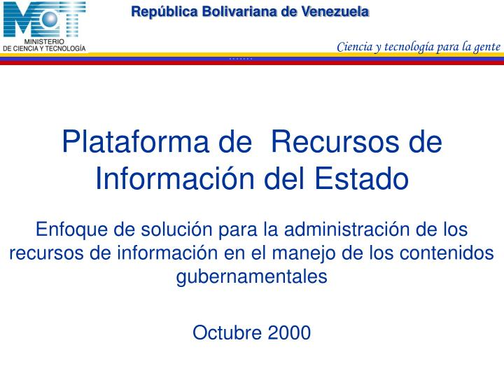 plataforma de recursos de informaci n del estado n.