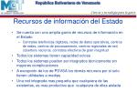 recursos de informaci n del estado