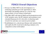 fenco overall objectives