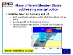 many different member states addressing energy policy