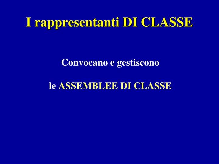I rappresentanti DI CLASSE