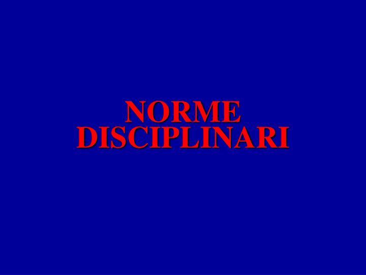 NORME DISCIPLINARI