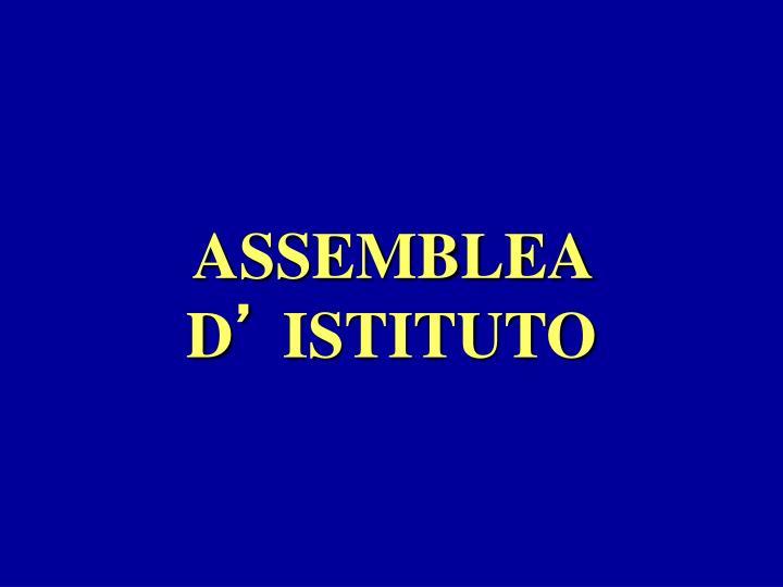 ASSEMBLEA D
