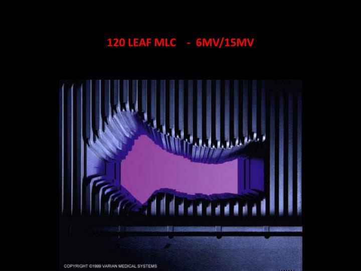 120 LEAF MLC    -  6MV/15MV