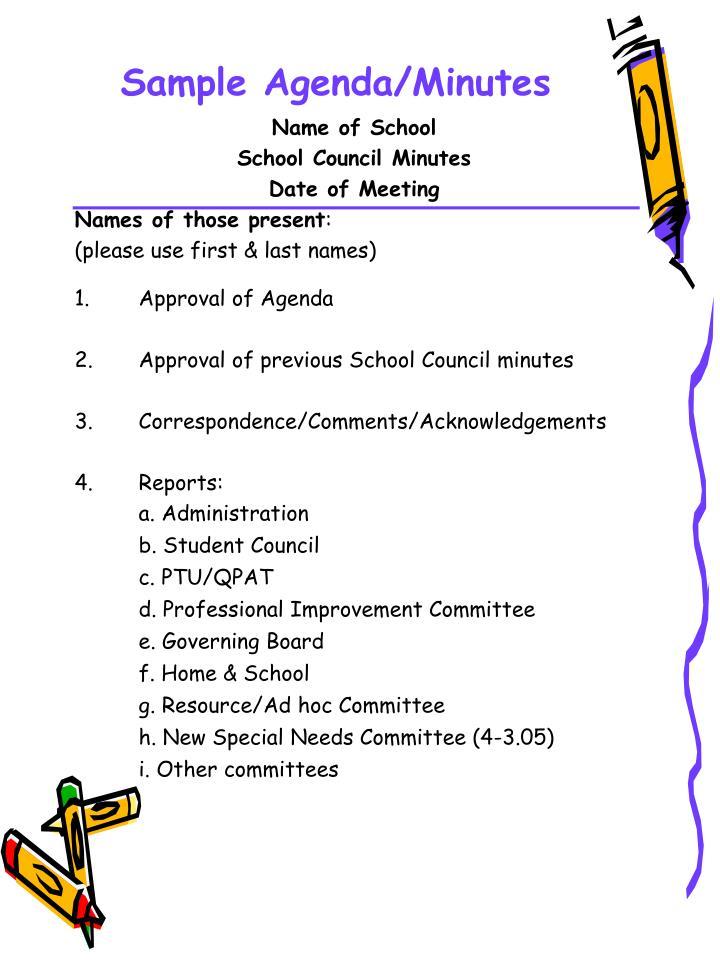 Sample Agenda/Minutes