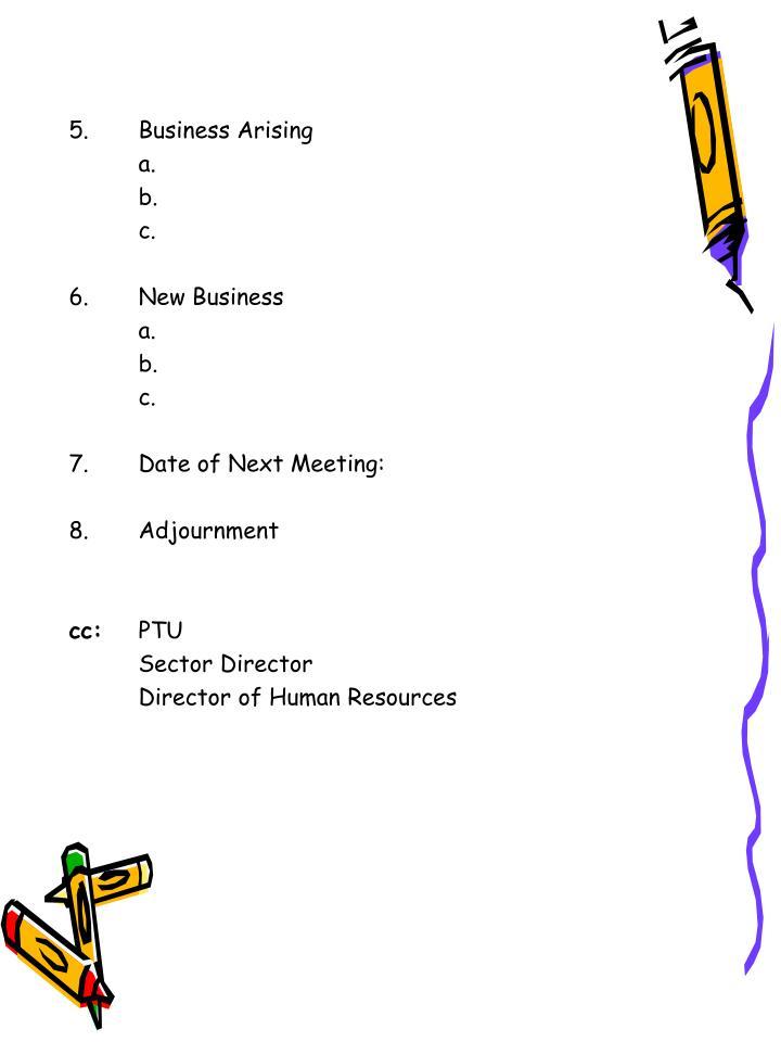 5.Business Arising