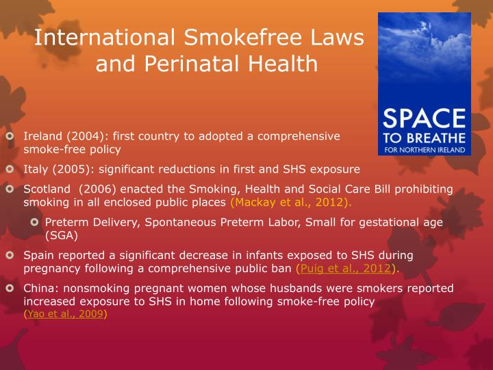 International Smokefree Laws