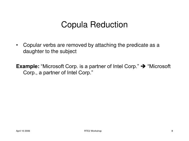 Copula Reduction