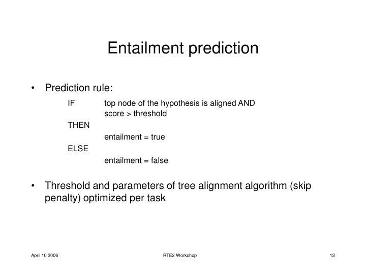 Entailment prediction