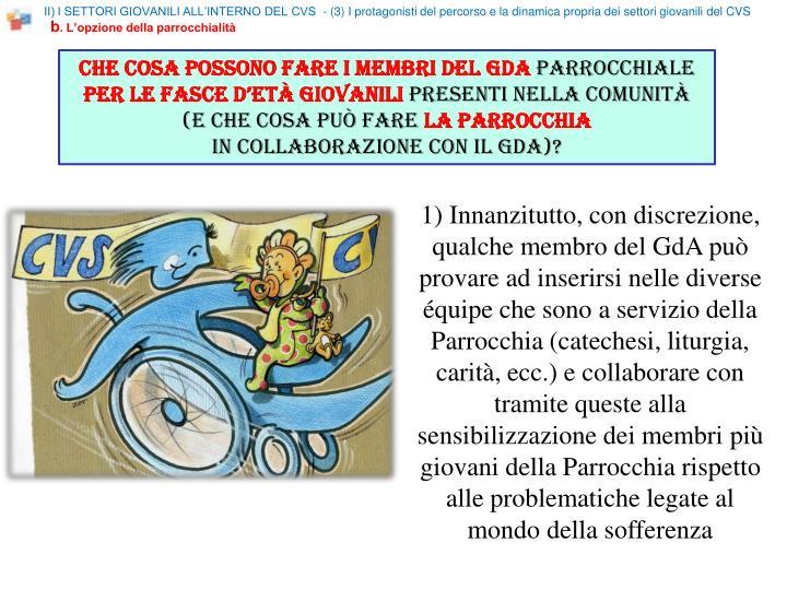 II) I SETTORI GIOVANILI ALL'INTERNO DEL CVS  - (3)