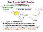 super symmetry susy searches