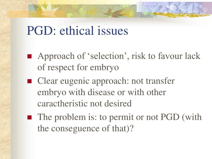 PGD: ethical issues